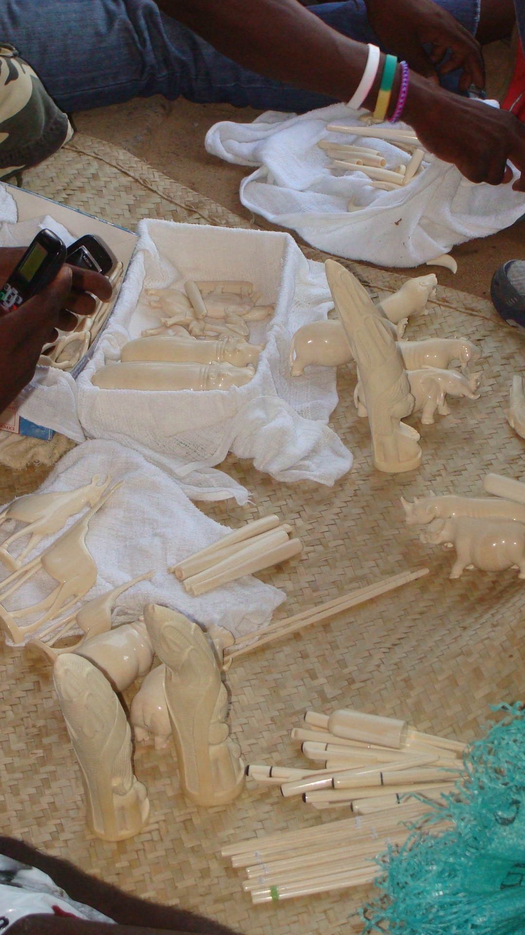 Ivory artifacts on sale in Pemba 5