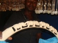 Carved tusk Pemba