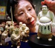 Carved ivory on display in a store in Tokyo. Reuters