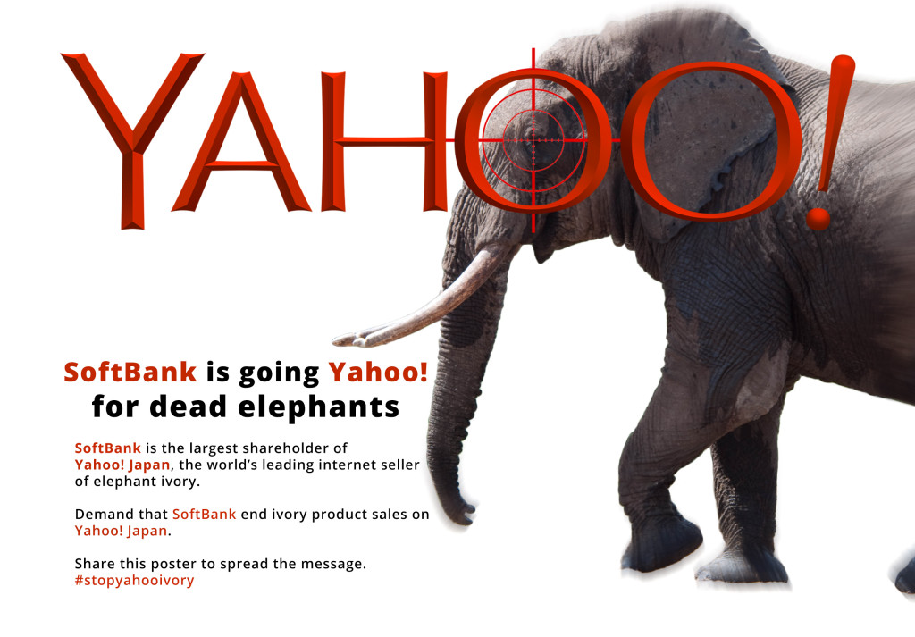54b69efb975488 Request for SoftBank to End Yahoo! Japan s Elephant Ivory Advertisements  and Sales - Conservation Action Trust